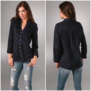 JOIE // Fara Ruffle Plaid Shirt